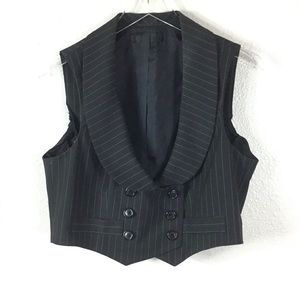 Short Double Breasted Pinstripe Vest